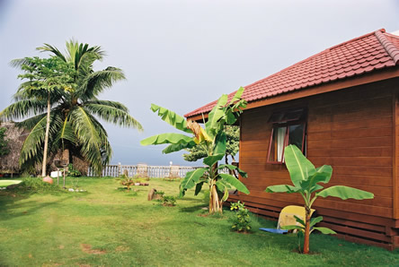 Private Bungalow with view of Lagoon